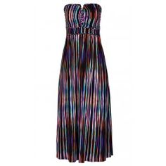 Weave your magic and cast a summer time spell as you enchant in the Color Weave Maxi Dress. Showcasing a plaited bust hem and waistband, brightly patterned stripe print, full length skirt and made from a slinky stretch fabric; this dress will take you from the beach to cocktail hour in comfort and hypnotise with it's style.