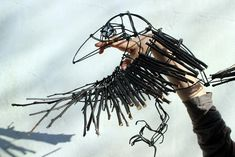 Making Crow puppets for Theatre Production - 'Into the Woods' - UK Artist Duncan Cameron March 2014
