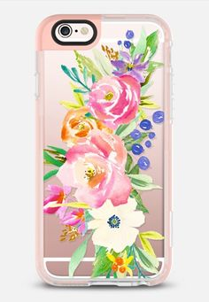 Casetify iPhone 7 Case and Other iPhone Covers - Summer Watercolor Floral iPhone 6s Case by Ruby Ridge Studios | #Casetify