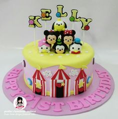 Tsum tsum design fondant cake