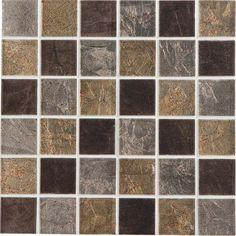 Mosaïque Glass select mix ARTENS, marron, 5x5 cm | Leroy Merlin