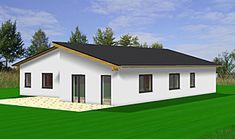 3d visualisation ch bungalow pultdach h user pinterest bungalow grundrisse winkelbungalow. Black Bedroom Furniture Sets. Home Design Ideas