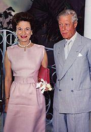 "King Edward VIII ""David"" (Edward Albert Christian George Andrew Patrick David) (1894-1972) Prince of Wales UK wife Wallis Simpson (Bessie Wallis Warfield-Spencer-Simpson) (1896-1986) USA, Duke Duchess of Windsor."
