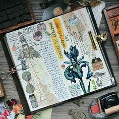 Embrace the glorious mess that you are. #midori #journalwithme #lollalane #midoritravelersnotebook #travelersnotebook #foodie #artjournaling #artjournal #journal #plannergeek #planneraddictmalaysia #手帐 #旅人手帐 #文具 #文房具