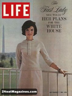 Life Magazine September 1, 1961 : Cover - Jackie Kennedy (feature inside).