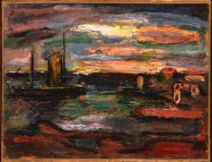 """Rouault, """"Afterglow, Galilee"""""""