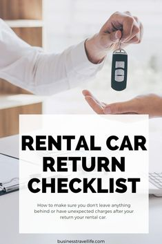 Don't Forget To Do These Things Before You Return Your Rental Car! Have you ever forgotten something or received an unexpected charge after you returned the car? You are not alone. Returning your rental car can be a stressful event. Whether you are running late, stuck in traffic or taking a conference call on the way to the airport, it can be easy to leave something in the rental car or forget to fill up the tank. Here are six rental car return reminders to keep in mind for your next trip. Make Business, Business Travel, Work Travel, Travel Tips, Organizational Leadership, Colorado State University, Conference Call, Travel Snacks, Running Late