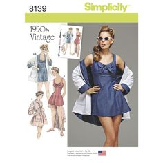 6def9b0d68 Bring it back to the 1950s with this vintage beachwear pattern. Pattern  includes lined bathing. Strand MantelSimplicity Sewing PatternsNew Look ...