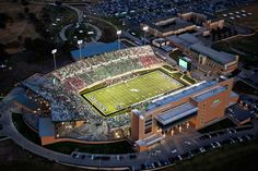 Aerial Photography of UNT stadium in Texas