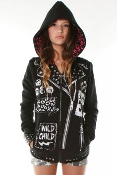 For some reason I like this ;) NEW TATTOO BIKER ZIP HOODY(Abbey Dawn) by Avril Lavigne