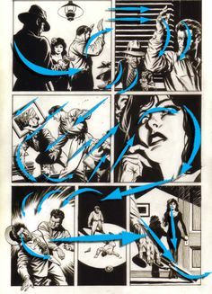 schultz+Flow+comicArrows #MarkSchultz #Art #Comics
