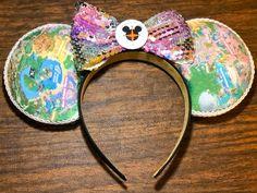 Disney Map, Disneyland Map, Disney Bound, Mickey Head, Mickey Mouse Ears, Diy Presents For Boyfriend, Diy Disney Ears, Disney Headbands, Disney Fabric