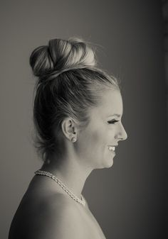 the perfect wedding top-knot | bridal updo