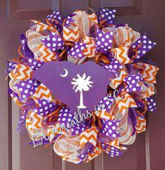 Clemson South Carolina wreath