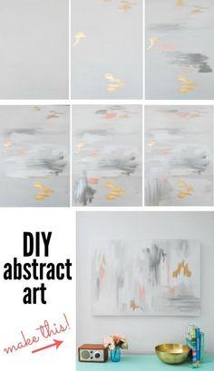 Make a DIY abstract artwork