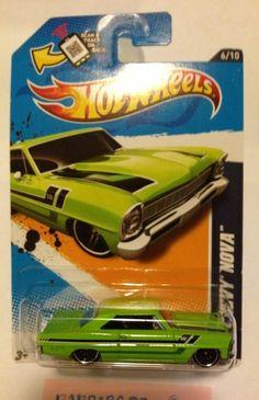 Hot Wheels Muscle Mania -GM '12 '66 Chevy Nova Green