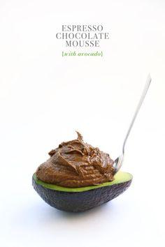 Espresso Chocolate {avocado} Mousse (via Bloglovin.com )
