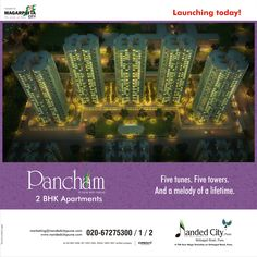 #NandedCityPune eminently launching #Pancham today !! Book your flats now and make your dreams come true.. !!