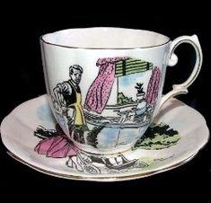 "1950s Royal Albert Teacup 'Grass Widow?' - Series Set of 6 No.6 ""Domestic Bliss"". Arthur Ferrier Pattern. by www.royalalbertpatterns.com"