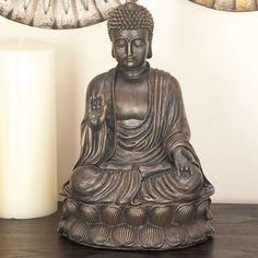 Polystone Buddha Figurine