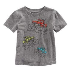 Toddler Boy Jumping Beans® Heathered Graphic Tee #toddlerTeesboy