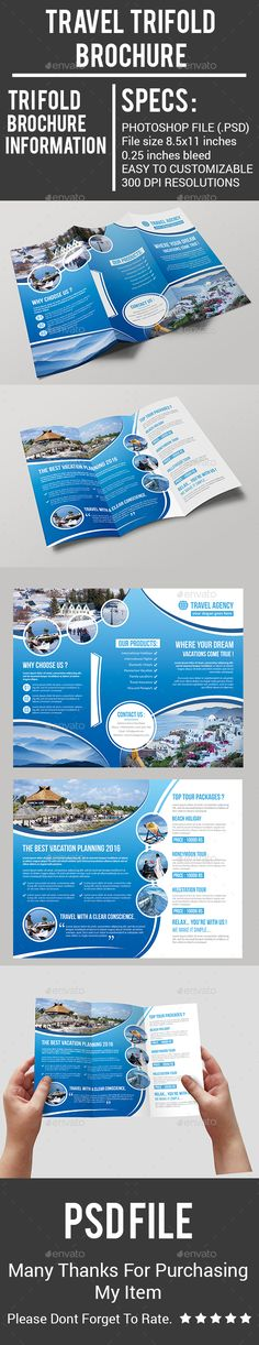 Cruise Travel - Brochure Template Design tourism\travel layout - sample travel brochure