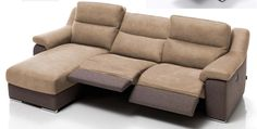 Sofá chaiselongue 295 cm. con sistema relax eléctrico.