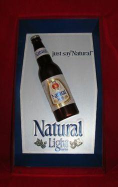 Natural Light Beer Sign Item No 423 001 Anheuser Busch 3D Plastic Bottle V | eBay