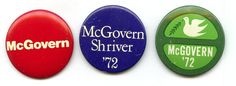 3 McGovern buttons
