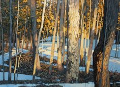Early Spring Warmth, 30 x Peter Rotter Painting Snow, Spring Painting, Light Painting, Painting Trees, Art And Illustration, Landscape Art, Landscape Paintings, Canadian Art, Contemporary Artwork