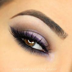 Makeup Geek Duochrome Eyeshadow in Phantom + Makeup Geek Eyeshadows in Corrupt, Fairytale and Mocha + Makeup Geek Full Spectrum Eye Liners in Obsidian and Royal. Look by: Paulina Alaiev
