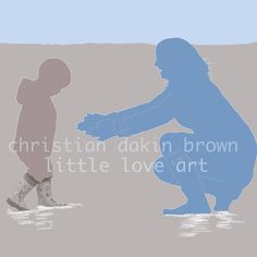Personalised Silhouette Images by Me :) Christian Dakin Brown - Little Love Art