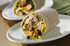 Southwest Chicken Salad Wrap recipe - Brian and I really liked these wraps! They were light and easy and delicious for a summer meal!