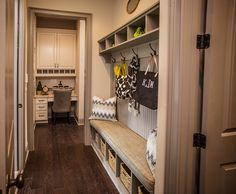 Mudroom for the Family to Enjoy – Dogwood Model, Manor North – via Edward Andrews Homes