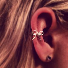 Bow Ear Cuff by wiredforfreedom on Etsy, $14.00 want pirceing there