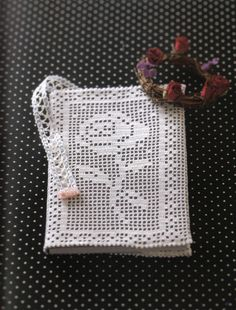 crochet lace book cover