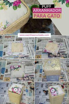DIY - Puff arranhador para gato (feito com lata reciclada) - Casinha Arrumada