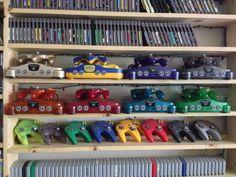 N64 Shelves Video Game Organization, Video Game Storage, Retro Video Games, Video Games For Kids, Retro Games, Nintendo Room, Nintendo 64, Man Cave Games, Game Room Kids