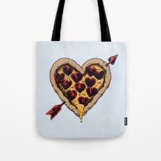 Pizza Love Tote Bag