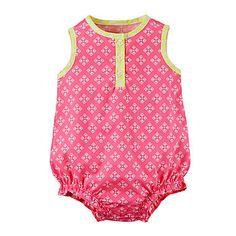 jcp | Carter's® Sleeveless Pink Romper - Baby Girl newborn-24m Carters Baby  Girl