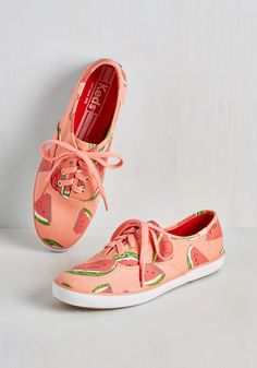 Fruits and Flatters Sneaker in Watermelon, #ModCloth