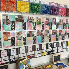 Co-created alphabet, number and color wall. Instagram photo by @darlamyersclass
