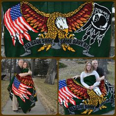 USA Eagle POW crocheted by Christina Mead-Palmer using a Crochet Word Charts  from Momma's JAM Pack Crochet Word Charts.