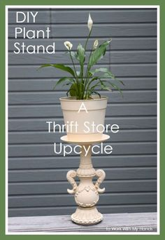 diy plant stand a thrift store upcycle, diy, gardening, home decor, repurposing upcycling