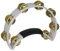 Rhythm Tech RT 1021  Tambourine, White, Brass Jingles by Rhythm Tech. $32.40. The original and legendary Rhythm Tech ergonomic, headless tambourine. Nothing else feels, plays or sounds like a Rhythm Tech available in rich, full brass jingles.