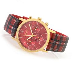 632-659 - Invicta 36mm or 44mm Heritage Collection Quartz Stainless Steel Plaid Silicone Strap Watch