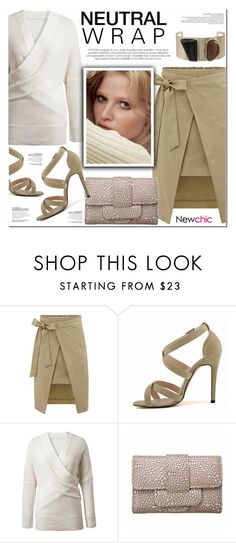 """""""NEWCHIC 5"""" by nanawidia ❤ liked on Polyvore featuring neutrals, womenfashion, polyvoreeditorial and newchic"""