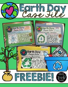 Students create an Earth Day Case File for an environmental cause. FREEBIE!!