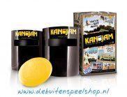 KanJam: hét nieuwe frisbee spel uit Amerika! Het spel wordt gespeeld met 2 teams van elk 2 personen, de een werpt de frisbee en het andere teamlid staat achter het doel (Kan) en probeert de frisbee tegen of in de Kan te krijgen. Er zijn verschillende score mogelijkheden,  het team welk het eerst 21 punten heeft wint. KanJam is geschikt vanaf 8 jaar en kan overal worden gespeeld ook binnen met de KanJam Mini Set. Vanaf €19.95. http://www.debuitenspeelshop.nl/buiten-spelletjes/kanjam/