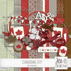 Quality DigiScrap Freebies: Canadian, Eh? mini kit freebie from Jen C. Designs